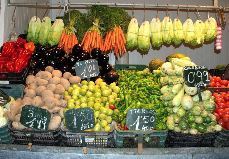 Vegetable Stand in Cadiz, Spain